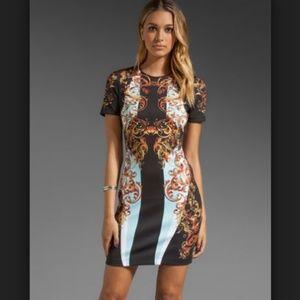 Clover Canyon Geo Filigree Neoprene Mini Dress